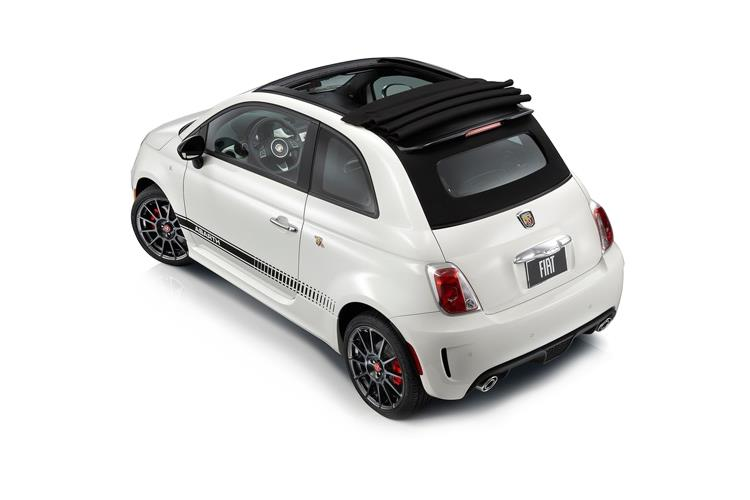 Abarth 595 C Cabrio 1.4 T-Jet 165PS Pista 70th 2Dr Manual back view