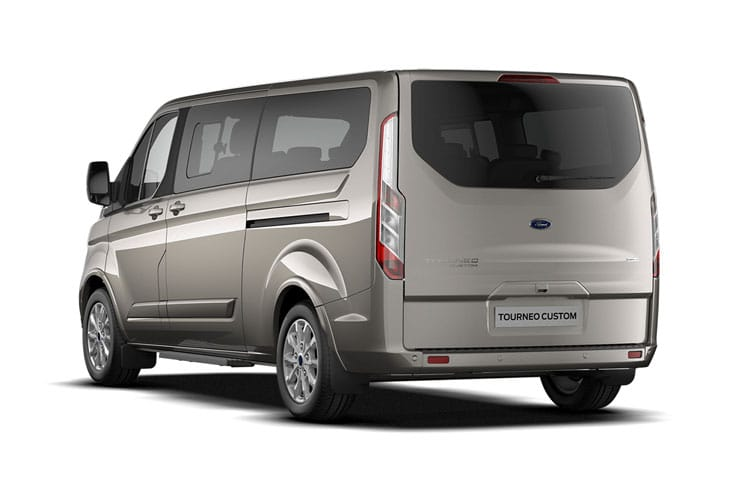 Ford Tourneo Custom 320 L1 M1 2.0 EcoBlue FWD 130PS Titanium Minibus Manual [Start Stop] [8Seat] back view