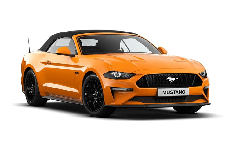 Ford Mustang Convertible 5.0 V8 450PS GT 2Dr SelShift [Custom Pack 4] front view