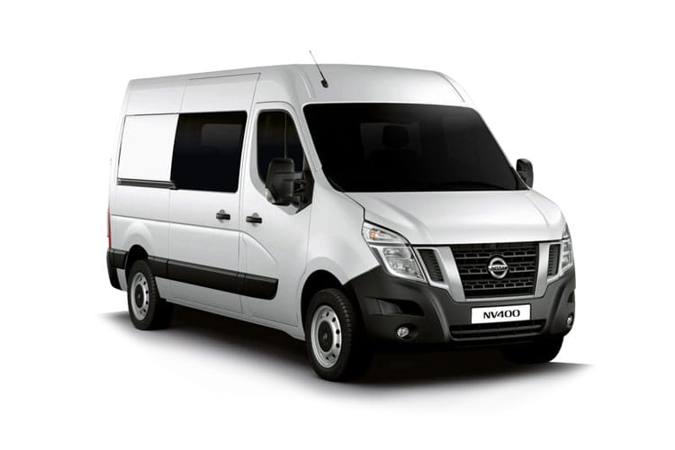 Nissan NV400 L3 35 FWD 2.3 dCi FWD 135PS Tekna Crew Van Medium Roof Manual front view