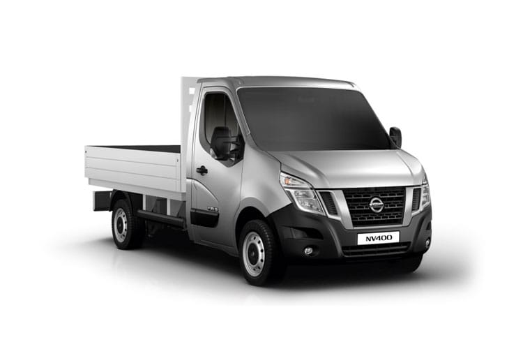 Nissan NV400 L3 35TW RWD 2.3 dCi DRW 145PS Acenta Dropside Manual [Start Stop] front view