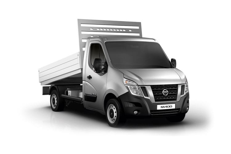 Nissan NV400 L3 35TW RWD 2.3 dCi DRW 145PS Tekna Tipper Manual [Start Stop] front view