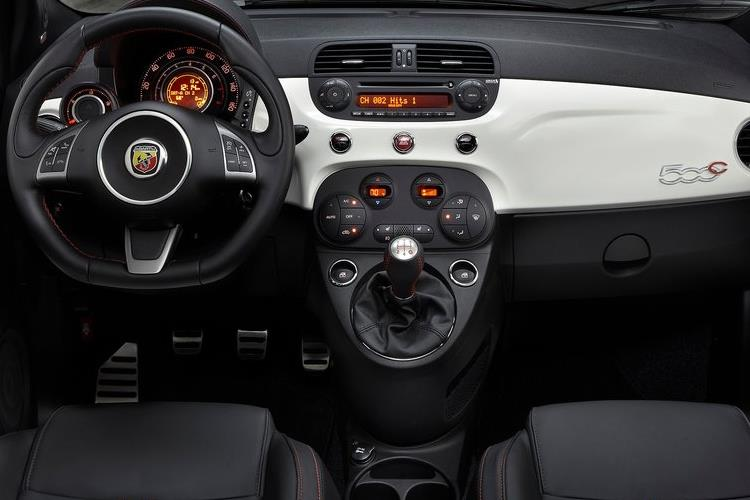 Abarth 595 C Cabrio 1.4 T-Jet 165PS Pista 70th 2Dr Manual inside view